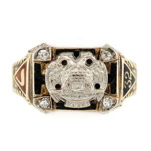 Vintage 32nd Degree SCOTTISH RITE Diamond Ring
